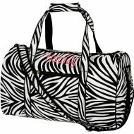 Discontinued - Monogrammed Small Lined Duffle Bag In Zebra