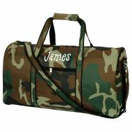 Discontinued - Monogrammed Large Lined Camouflage Duffel Bag