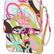 Monogrammed Padded Multi Color Swirl Tablet Case