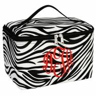 Monogrammed Large Zebra Cosmetic Bag