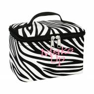 Monogrammed Zebra Mini Cosmetic Bag