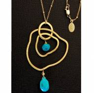 Cascade Necklace With Turquoise Stones