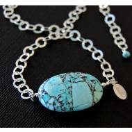 Mosaic Sterling Silver Necklace