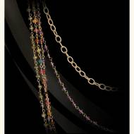 Multi-strand Tourmaline, Amethyst And Peridot Necklace