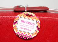 Monogrammed Hard Plastic Luggage Tag Set