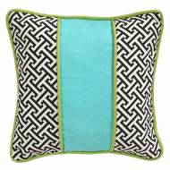 Maze Black Throw Pillow
