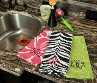 Monogrammed Kitchen Towels In Six Designs
