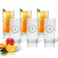 Carved Solutions Personalized Glass Cooler Set Of 6
