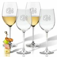 Personalized Glass Wine Stemware Set Of 4