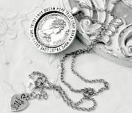 Antique Silver Coin Necklace