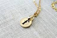 Petite Gold Initial Necklace
