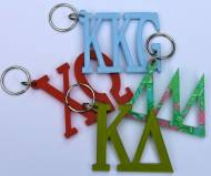 Acrylic Greek Sorority Keyring In Solids And Lilly Patterns