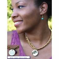 Design Your Monogrammed Disc Necklace In Four Finishes