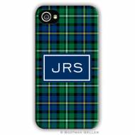 Black Watch Plaid Cell Phone Case
