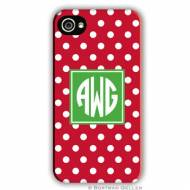 Polka Dot Cherry Cell Phone Case
