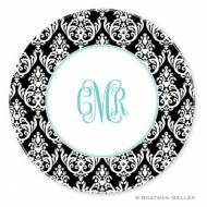 Madison Damask Melamine Plate