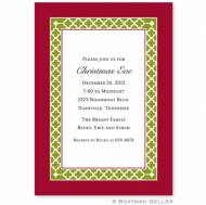 Bristol Chain Cranberry Invitation