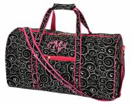 Monogrammed Large Lined Duffel Bag In Black Swirl