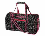 Monogrammed Small Lined Duffel Bag In Black Swirl
