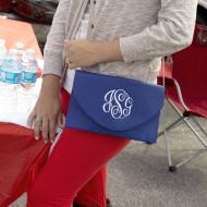 Monogrammed Royal Blue Convertible Envelope Purse