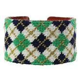 Fall Argyle Needlepoint Cuff