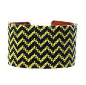 Michigan Chevron Needlepoint Cuff
