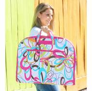 Monogrammed Colorful Swirl Garment Bag