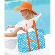 Monogrammed All Purpose Aqua Tote