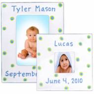 Baby Dot Cornflower Blue Frame