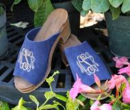 The Pink Monogram Sandals Leather Or Suede  Wooden (painted) Or Comfort Flex
