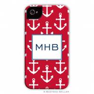 Anchors White On Red Cell Phone Case