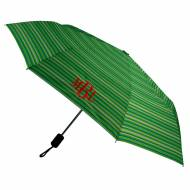 Monogrammed Umbrella - Aqua And Lime Stripe
