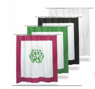 Monogrammed Shower Curtain From The PInk Monogram
