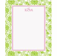 Lilly Pulitzer Winter Playground Green Correspondence Card