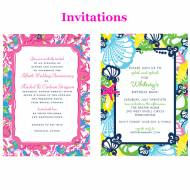 Lilly Pulitzer Personalized Invitations