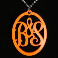 Monogram You And Me Couples Pendant