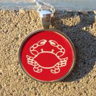 Engraved Fun And Nautical Theme Acrylic Color Pendant