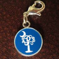 Engraved Monogram Palmetto Acrylic Color Charm