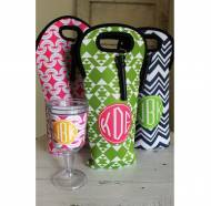 Monogrammed Wine Totes From Clairebella- Single Bottle And Double Bottle
