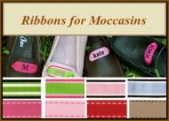 Monogrammed Moccasin Ribbons For Adult, Youth And Tweens