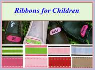 Monogrammed Moccasin Ribbons For Toddlers And Children
