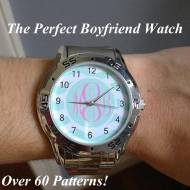 Monogrammed Boyfriend Watch