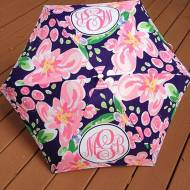 Monogrammed Fun Print Folding Umbrella