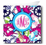 Monogram Fun Print Sticky Note Cube