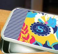 Monogrammed Fun Print Cake Or Casserole Pan With Lid
