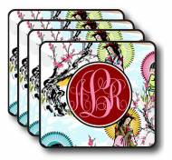Monogrammed Fun Print Coaster Set