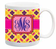 Monogrammed Fun Print Jumbo Ceramic Coffee Mug