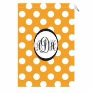 Monogrammed Laundry Bag With Tennessee Orange And White Polka Dots