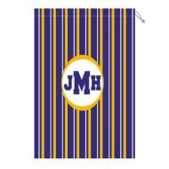 Monogram Laundry Bag With LSU Purple White And Gold Stripes