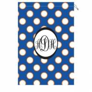 Monogram Laundry Bag With Florida Orange And Blue Polka Dots